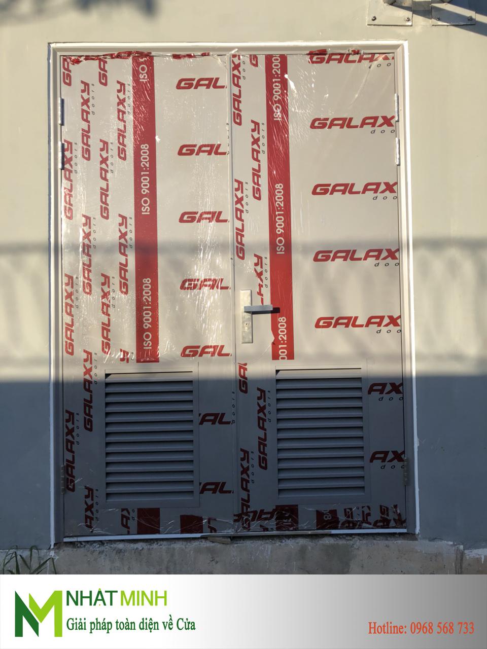 Lắp cửa thép chống cháy Galaxy cho CANIFA