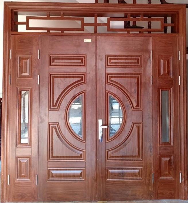 Cửa thép vân gỗ Goonsan