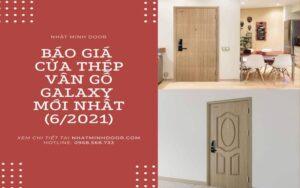 Giá cửa thép vân gỗ mới nhất 6/2021