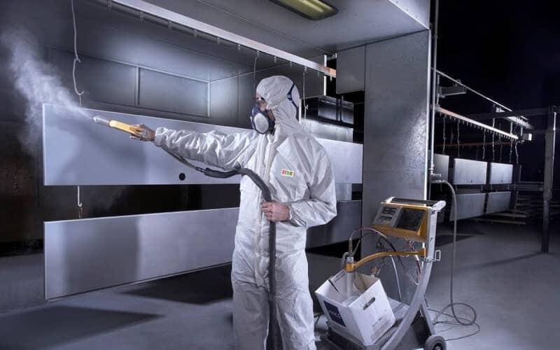 Công nghệ phun sơn tĩnh điện cửa thép