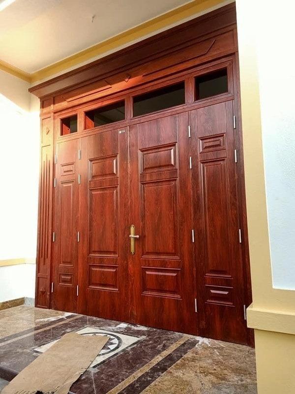 Cửa thép vân gỗ sơn tĩnh điện